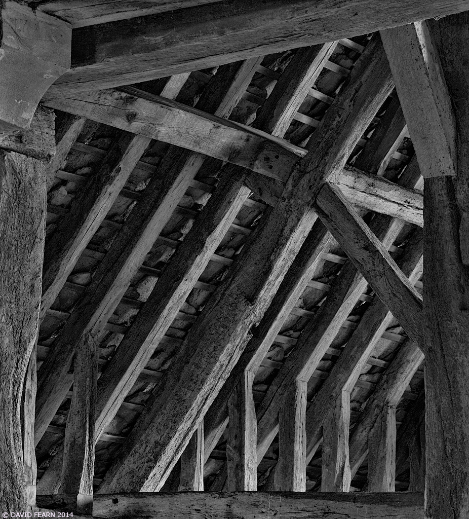 GreatCoxwellBarnInteriorDetail21024B&W