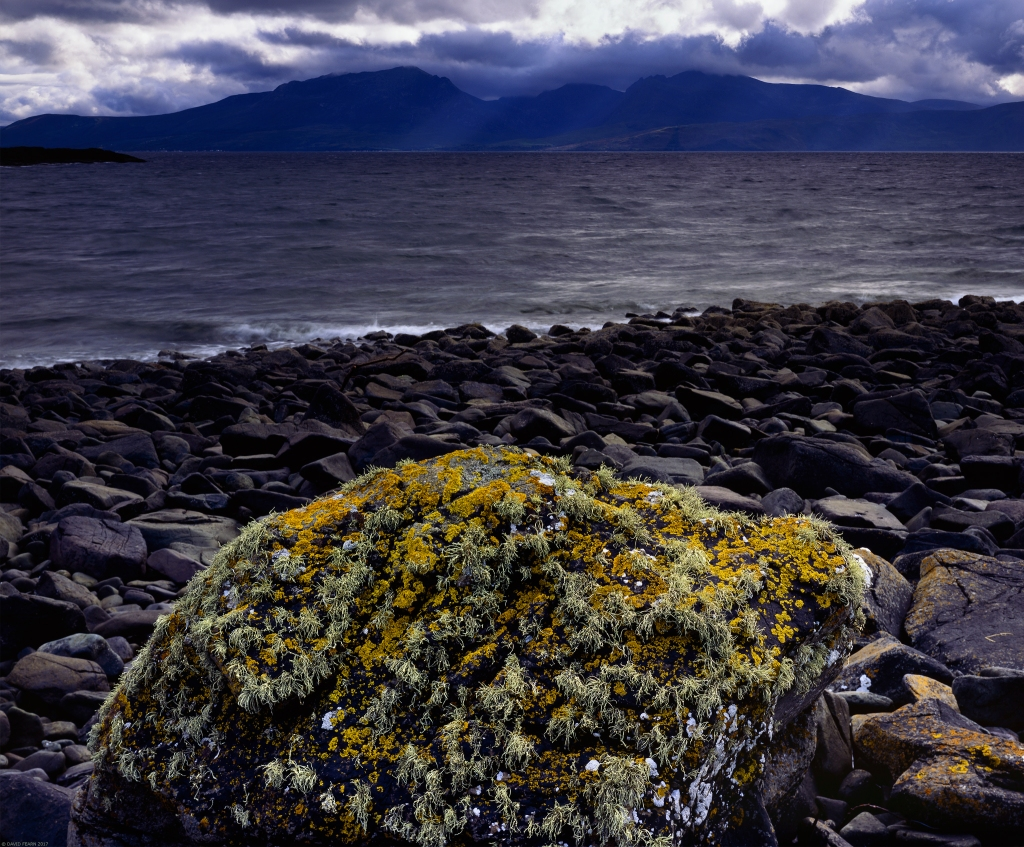 Arran with Lichens